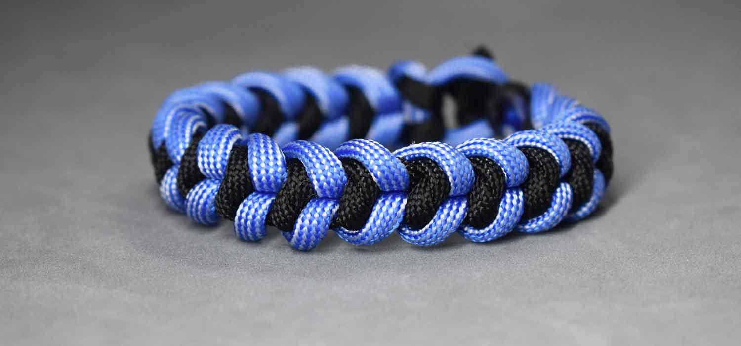 Pulsera paracord Nudo Serpiente Real Paracord Bracelet Regal Snake Knot