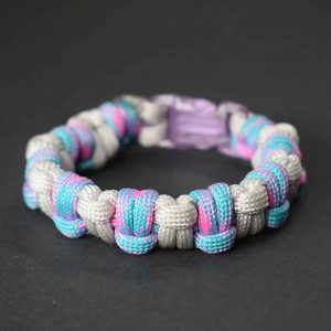 Pulsera paracord medio nudo doble