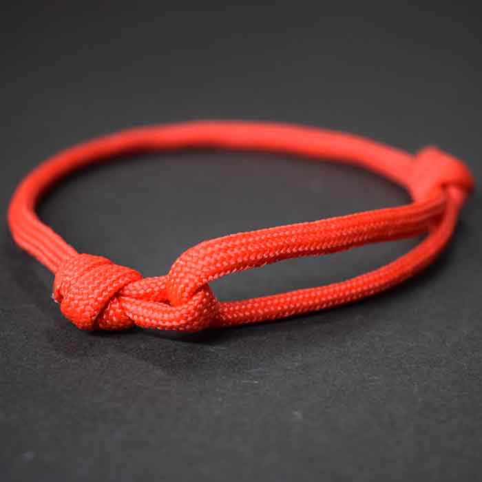 Pulsera roja paracord - pulsera roja fácil de hacer